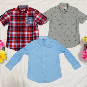 3 buttons up shirts bundle